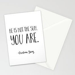 He is not the sun. You are. Cristina Yang Grey's Anatomy Quote Stationery Cards