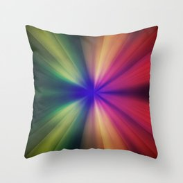 Spectral Flash Throw Pillow