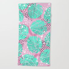 Funny Monstera Beach Towel