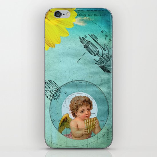 Angel playing music in space iPhone & iPod Skin