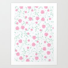 Floral pattern design Art Print