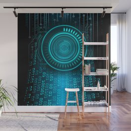Futurist Matrix | Digital Art Wall Mural