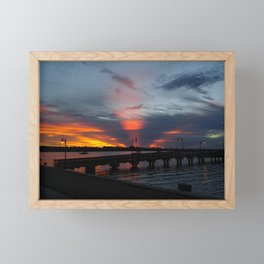 Jensen Beach Fishing Pier at Sunset Framed Mini Art Print