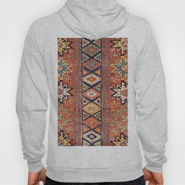Southwestern Farmhouse III // 19th Century Colorful Red Yellow Blue Green Aztec Farm Stars Pattern Hoody