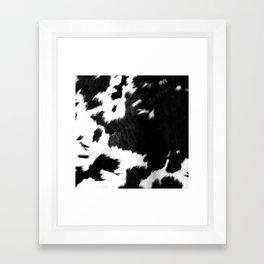 Rustic Cowhide Framed Art Print