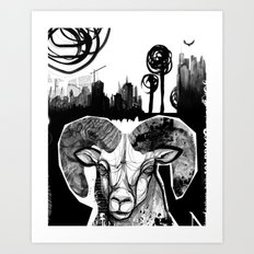 Ram City Art Print