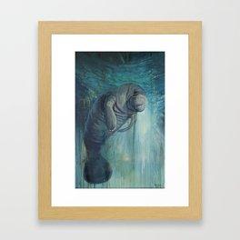 Undead Manatee Framed Art Print