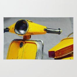 Yellow Vintage Scooter (Color) Rug