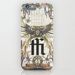 Guide for Constructing the Ligature ffi from Mira Calligraphiae Monumenta or The Model Book of Calli iPhone Case