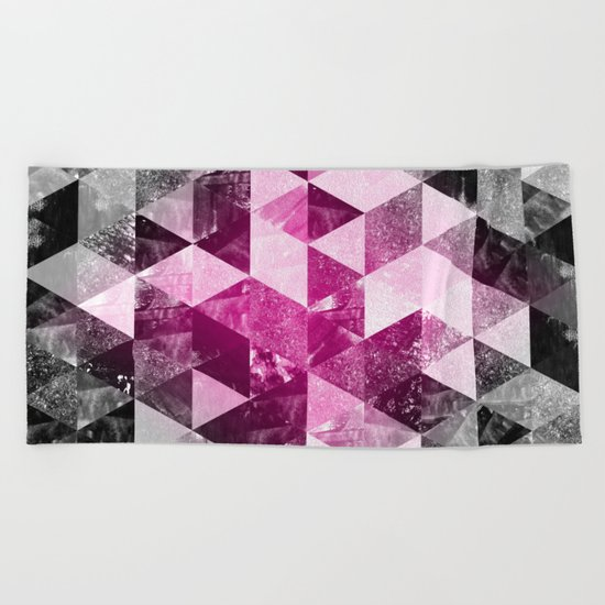 Abstract Geometric Background #4 Beach Towel