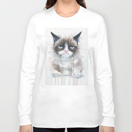Grumpy Kitty Cat Long Sleeve T-shirt