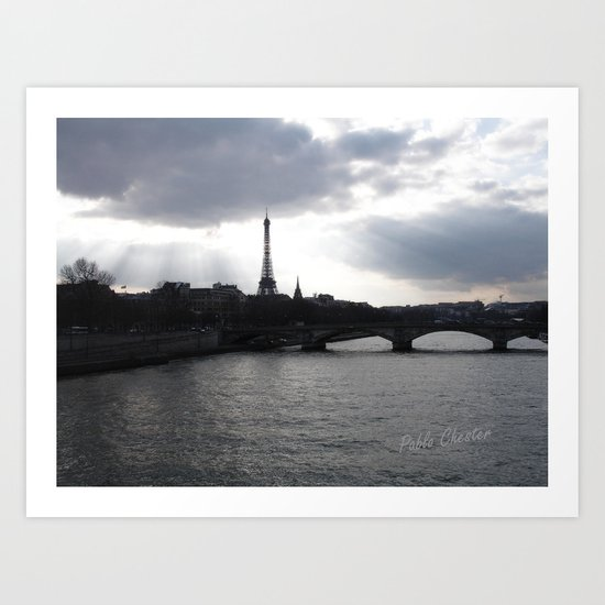Paris wake up Art Print