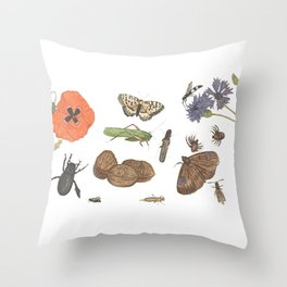 Common place miracles -Natural History Part II Throw Pillow