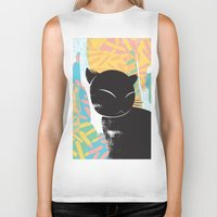 memphis Biker Tanks featuring Memphis Cat by kelsosullivan