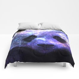 Galaxy Panda Space Colorful Comforters