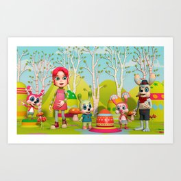 Zia and the Wabbits Art Print