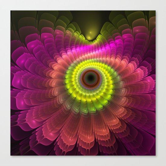Curling up fantasy flower Canvas Print