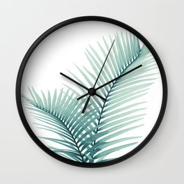 Intertwined - Palm Leaves in Love #3 #tropical #decor #art #society6 Wall Clock