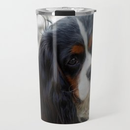 King Charles Cavalier Portrait Travel Mug