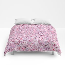 Pink Floral Comforters
