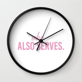 She Who Waits Also Services Military Deployment Wife T Shirt Wall Clock