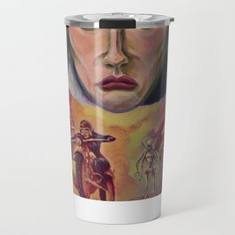 """Red Sisters"" Book Cover Travel Mug"
