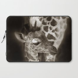 Baby Giraffe and Mother Laptop Sleeve