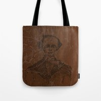 wes anderson Tote Bags featuring Hans Christian Anderson by Hazel Bellhop