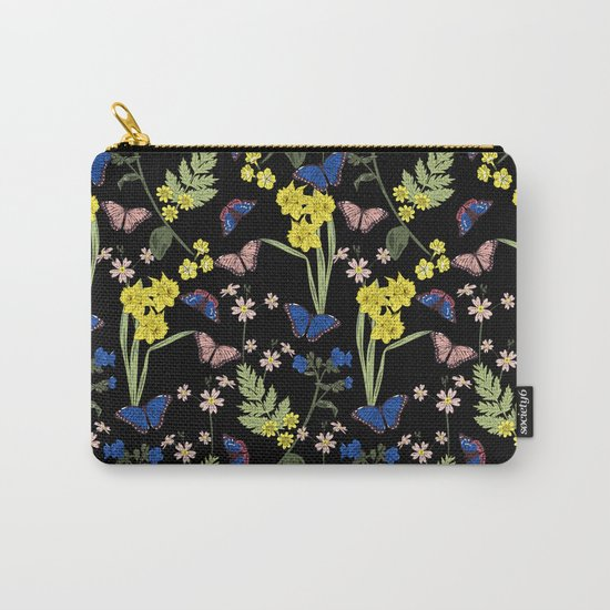 Botanical floral print Carry-All Pouch