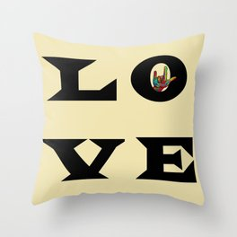 LOVE Typography Throw Pillow