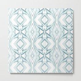 Pattern indigo blue Metal Print