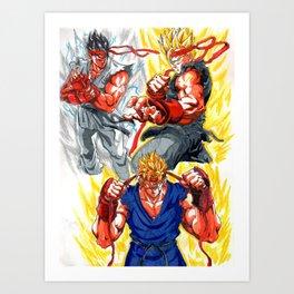 gohan street fighter outfit Art Print
