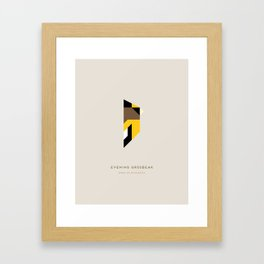 Evening Grosbeak Framed Art Print