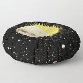 'Imminent Eclipse' Sun Moon & Stars Floor Pillow