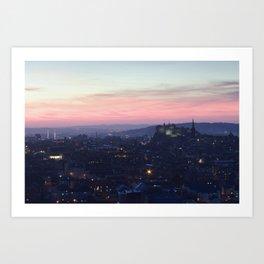 Edinburgh Castle at Sunset Art Print