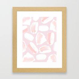 Brushstrokes Pattern Pink Framed Art Print