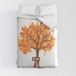 Free Hugs Under The Tree Comforters