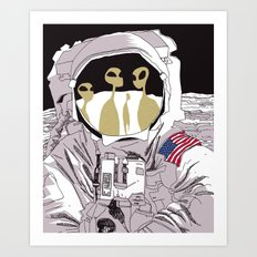 Meet Buzz Aldrin Art Print