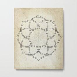 Geometry Sketch Eleven Metal Print