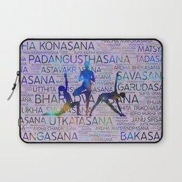Yoga Asanas/Poses Sanskrit Word Art Laptop Sleeve