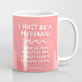 I Must Be A Mermaid – Coral Palette Coffee Mug