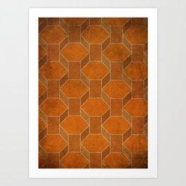 Hexagon Levels Art Print