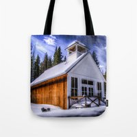 elmo Tote Bags featuring St Elmo Church by Photography By KC