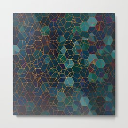 Organic Chemistry - Blue and Copper Metal Print