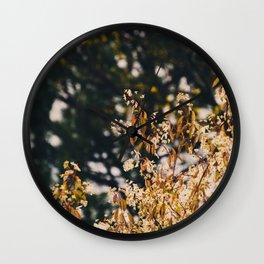 Rainy trees Wall Clock