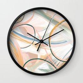 Foggy morning abstract art Wall Clock