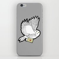 hedwig iPhone & iPod Skins featuring Hedwig by AriesNamarie