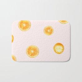 Orange watercolor Bath Mat