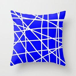 Doodle (White & Blue) Throw Pillow