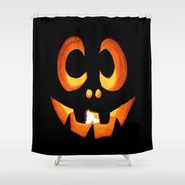 Vector Image of Friendly Halloween Pumpkin Shower Curtain